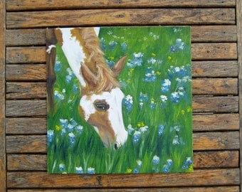 Paint Horse Painting - Horse Painting - Original Oil Painting - Horse Art - Country Chic Painting - Farmhouse Art - Country Art - Farm Art