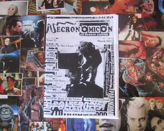 NECRONOMICON 22 UK horror fanzine March 2012 Troma Rubber cult retro movies zine 80s
