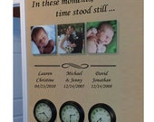 """Personalized Wall Decal - In these moments, time stood still ... 30"""" or 40"""" long with optional symbols line  includes up to 4 sets of names"""