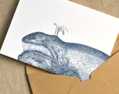 Wishing You a Whale of a New Year. (a whale of a new year's greeting in five letterpress printed cards & envelopes)