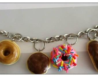 Donuts Charm Bracelet