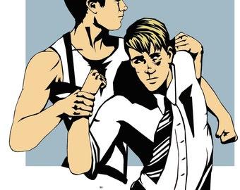 Pre-Serum Steve + Bucky