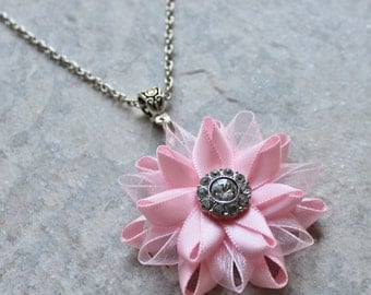 Pink Bridesmaid Necklace, Pink Necklace, Light Pink Jewelry, Pale Pink, Bridesmaid Jewelry