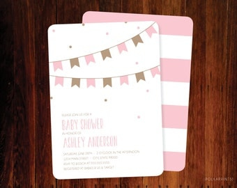Chic Baby Shower invitation - set of 15