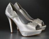 Wedding Accessories, Custom Colors, Peep Toe Heels, Princess Shoes, Pink2Blue, Bridal Shoes