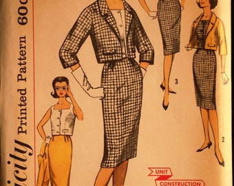 Simplicity 3357 Misses Jacket Skirt & Top Vintage 60s Sewing Pattern Sz 16