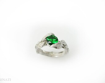 emerald engagement rings etsy