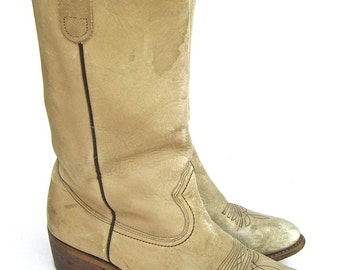 Thom McAn 1970s Cowboy Boots for Men Made in USA