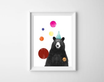 Circus Bear Downloadable Print