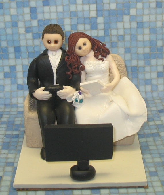 Wedding Cake Games: Items Similar To Custom Wedding Cake Topper Video Game