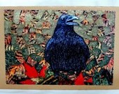 Raven Stitched Art Card