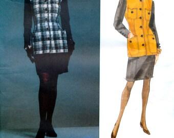 Vogue Paris Original 2756 by Karl Lagerfeld Misses' Jacket and Skirt Sewing Pattern - Uncut - Size 8, 10, 12