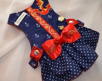 Dog Harness  - Anchors Away Harness Dress