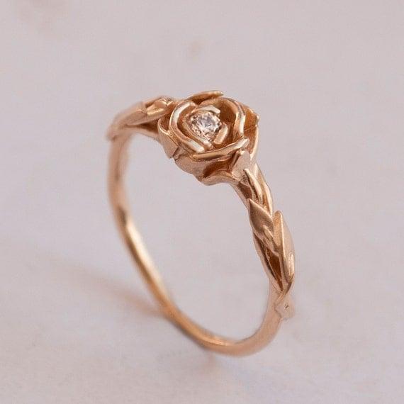 Rose Engagement Ring No Rose Gold