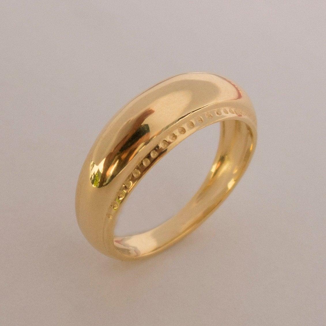viking ring no 2 14k gold ring unisex ring wedding ring. Black Bedroom Furniture Sets. Home Design Ideas