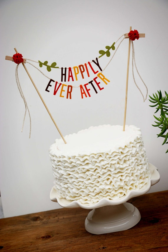 wedding cake banner toppers wedding cake banner wedding cake topper happily after 21982