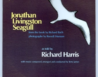Jonathan Livingston Seagull from the Book by Richard Bach, as Told by Richard Harris Vintage Vinyl Record Album Dunhill LP Spoken Word