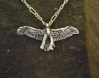 Sterling Silver Hawk Pendant on a Sterling Silver Chain