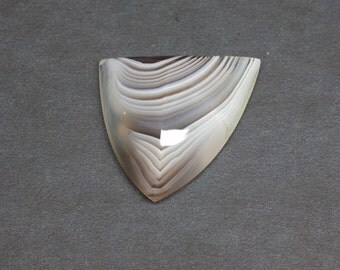 Botswana Agate Huge Loose Natural and Untreated Freeform Designer Knife Edge Triangular Banded Cabochon cab