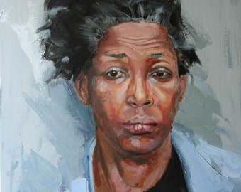 Original art Oil Painting Portrait African American