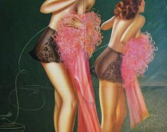A Party Line Billy DeVorss Pinup Calendar Art Print