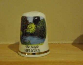 Vintage The Jungle - Heligan - Lake - Bone China - Porcelain - Souvenir