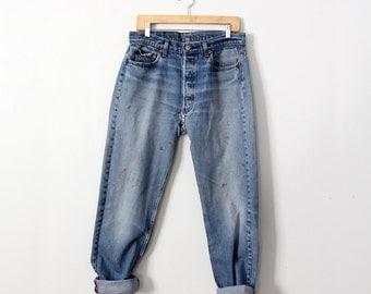 FREE SHIP  vintage 501 Levi's denim jeans, waist 33