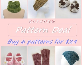 PDF CROCHET Pattern Deal: Buy 6 Patterns and Save