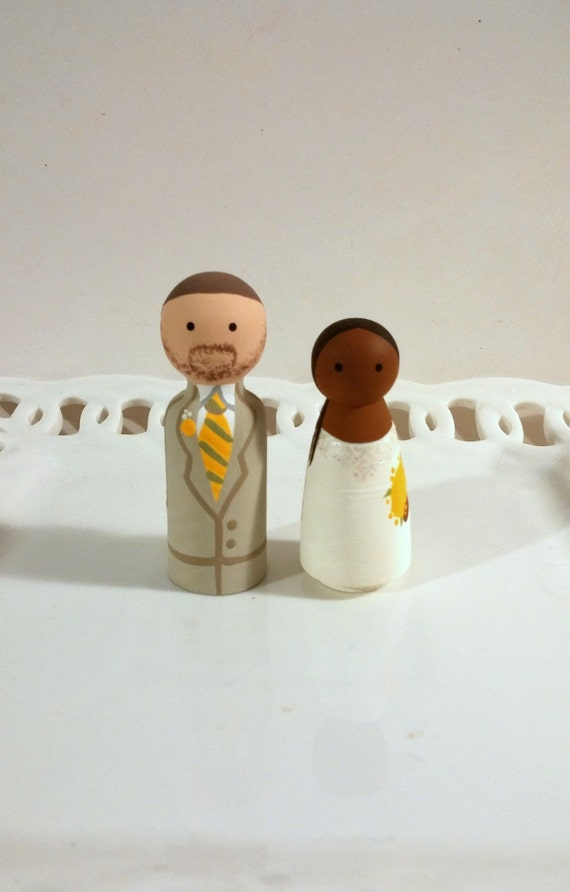 Cake Cuties- Custom Wedding Cake Toppers Small Size