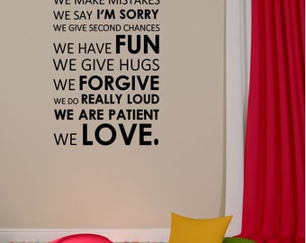 In This House Vinyl Decal - House Home Vinyl Wall Decal Quote, Vinyl Saying, Vinyl Quote, Fun, Love, Real, Living Room Decal, Wall, 23x40.25
