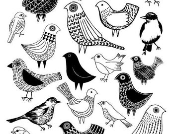 Birds, limited edition giclee print