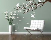 Cherry blossom branch Decal Modern Wall Decor flowering tree