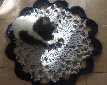 Big Rug Mandala Crochet pattern Tarn Carpet PDF or mandala crochet pattern doily - INSTANT DOWNLOAD