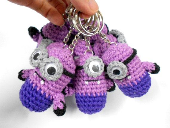 Amigurumi Minion Lila : Verkauf Evil Minion inspiriert Crochet Amigurumi Puppe von ...