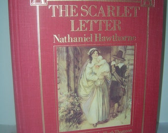 Vintage Book, Vintage Items, Used Book, Old Book, The Scarlet Letter by Nathaniel Hawthorne