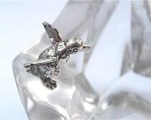 Vintage Penguin Iceberg Figurine Franklin Mint Paperweight James Carpenter Crystal Sculpture Crystal Figurine Penguin Silver Plate Figurine