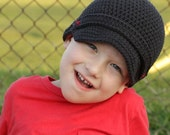 Classic Newsboy Hat - Crochet Pattern - Permission to sell finished items