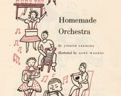 "Vintage Art Children's Book Illustration ""Homemade Orchestra"" illustration by Andy Warhol"