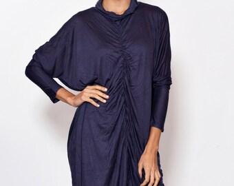 Chiffon gown.grey gray dress. boho dress.casual smart dresse.Long Sleeved Winter DRESS.