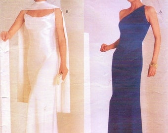 Tom and Linda Platt Womens Evening Dress Vogue Sewing Pattern 2042 Size 6 8 10 Bust 30 1/2 to 32 1/2 UnCut Vogue American Designer