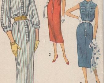 Bust 34-1960's Misses' Dress Simplicity 2341 Size 14