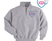 Personalized Nurse Nursing Heart Stethoscope RN Embroidered Monogram Quarter Zip Sweatshirt Pullover Jacket Custom Initials - Nursing RN LPN