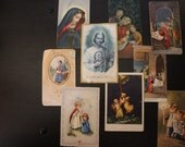 Vintage Catholic Prayer and Art Cards - Free Shipping!