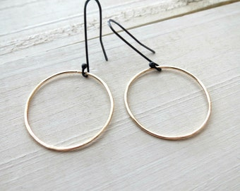Modern gold hoops, gold earrings,  gold dangles,gold and silver jewelry, gold hoop