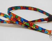Autism Awareness Breakaway Lanyard - ID Badge Lanyard - Key Lanyard - Id Lanyard - Teacher Gift - Jigsaw Puzzle