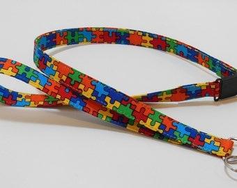 Lanyard -  Breakaway Lanyard - Badge Holder - Teacher Lanyard - Key Lanyard - Autism Awareness