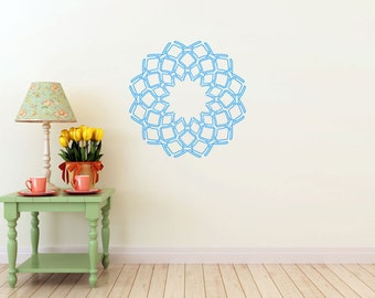 Delicate Filigree Ring, vinyl Wall DECAL- interior design, sticker art, room, home and business decor
