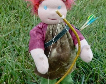 """13""""  Archer all natural handmade waldorf doll 13 inches tall"""