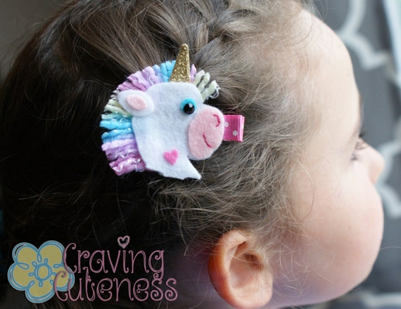 Unicorn Hair Clip - Meet Miss Unni