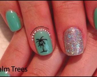 Palm tree nails | Etsy